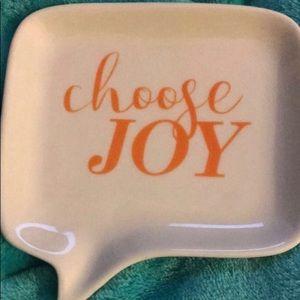 """Choose Joy"" Trinket Tray"